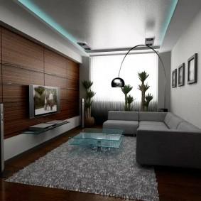Серо-коричневая комната в современном стиле