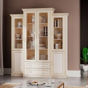 Модульный шкаф для хранения красивой посуды