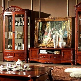 Модульная мебель в гостиную классического стиля