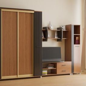 Мебельная стенка в купейным шкафом