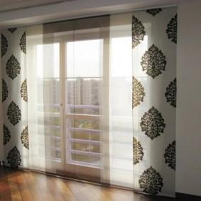Японские шторы из легкой ткани