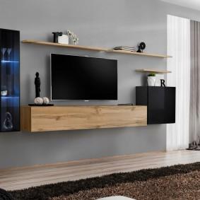 Подвесная мебель в современной гостиной