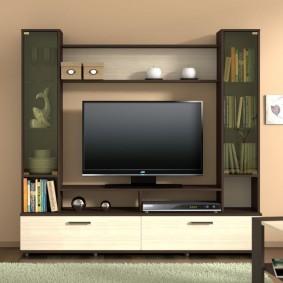 Симметричная стека с полкой для ТВ-панели