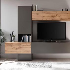 Лаконичная модель стенки под телевизор