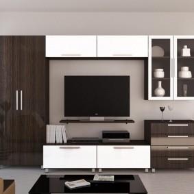 Стенка со шкафом и тумбой под телевизор