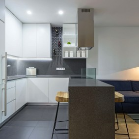 Освещение небольшой квартиры студийной планировки