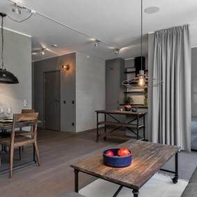 Интерьер квартиры в серых оттенках