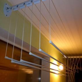 Освещение на лоджии с потолочной сушилкой