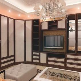 Мебельная стенка с нишей под телевизор
