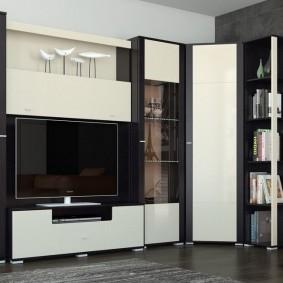 Черно-белая мебель в современном стиле