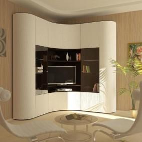 Лаконичная модель угловой стенки в гостиную