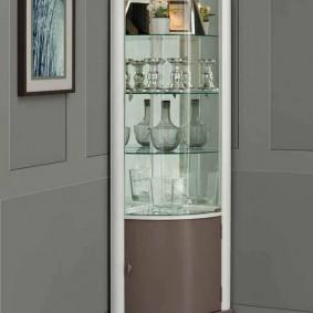 Дизайн бюджетного углового шкафа для гостиной