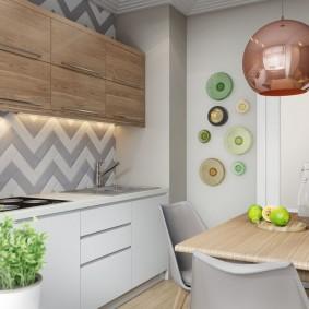 Декор свободной стены на кухне в квартире