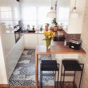 Рабочая зона кухни-гостиной