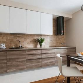 Контрастное оформление кухонного гарнитура