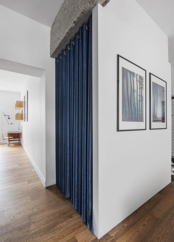 Дизайн коридора с гардеробной в скандинавском стиле