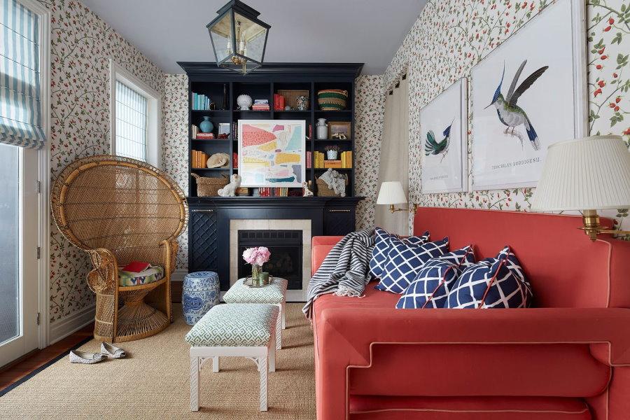 Меблировка небольшой комнаты в стиле эклектика