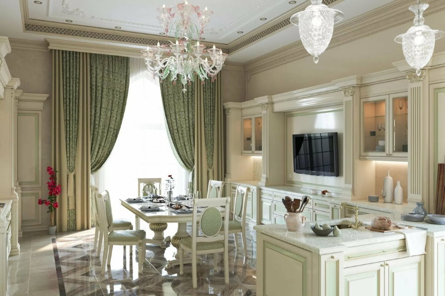 Интерьер кухни-гостиной в двухкомнатной хрущевке