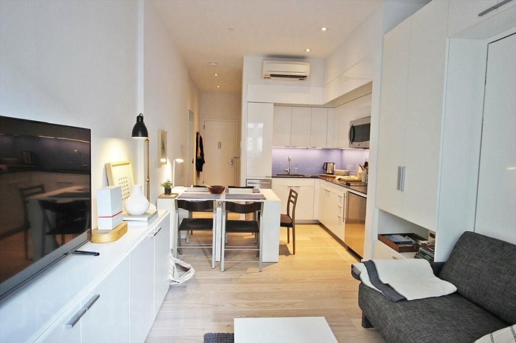 Обустройство интерьера в квартире студии площадью 25 кв м