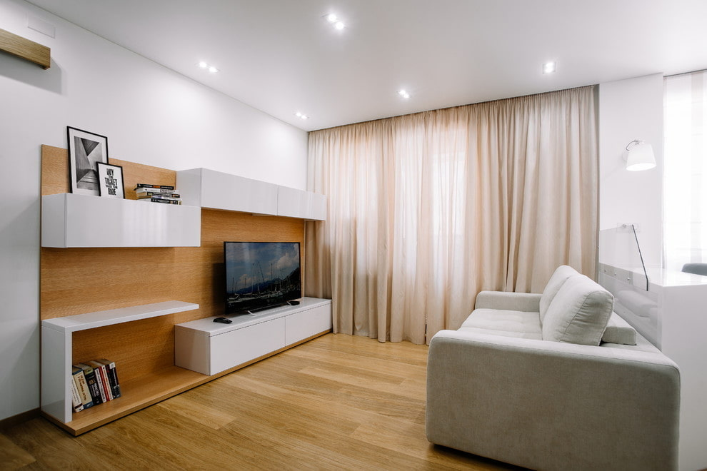 Подвесной потолок в гостиная стиля минимализма