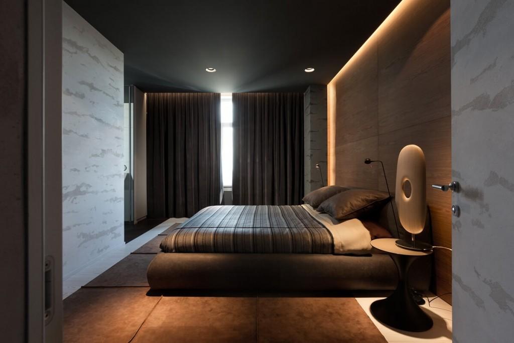 Спальня комната в современном стиле