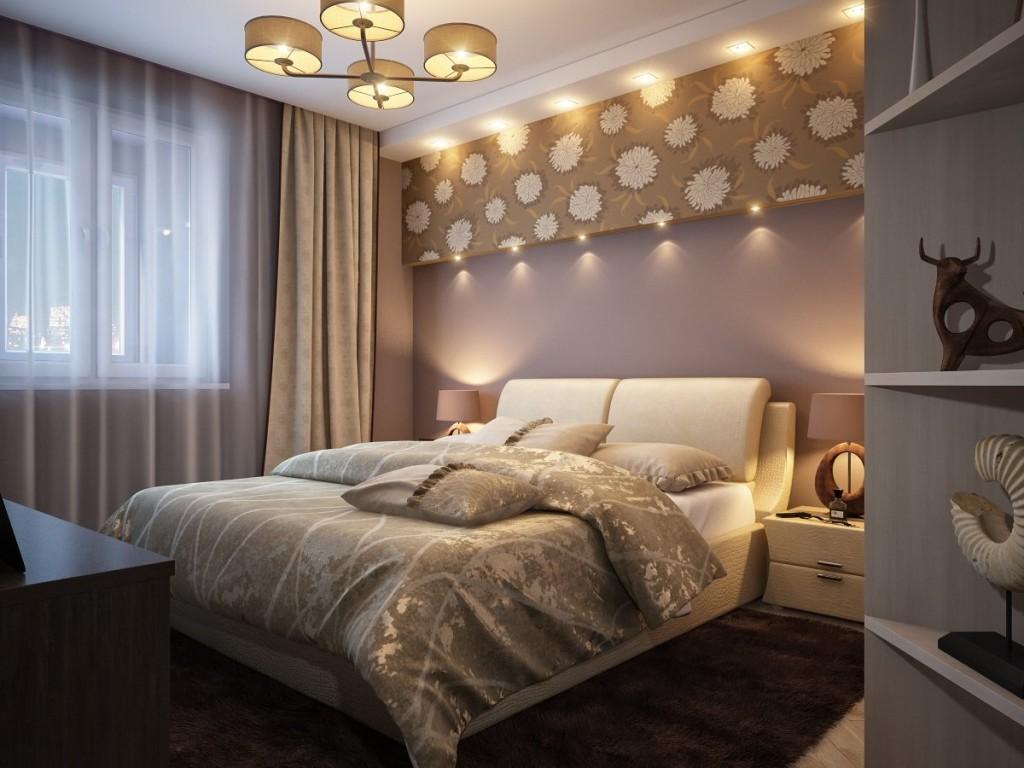 Освещение спальни в квартире панельного дома