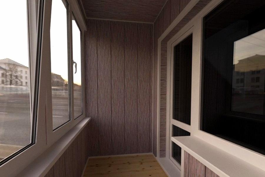 Интерьер лоджии с отделкой стеновыми панелями