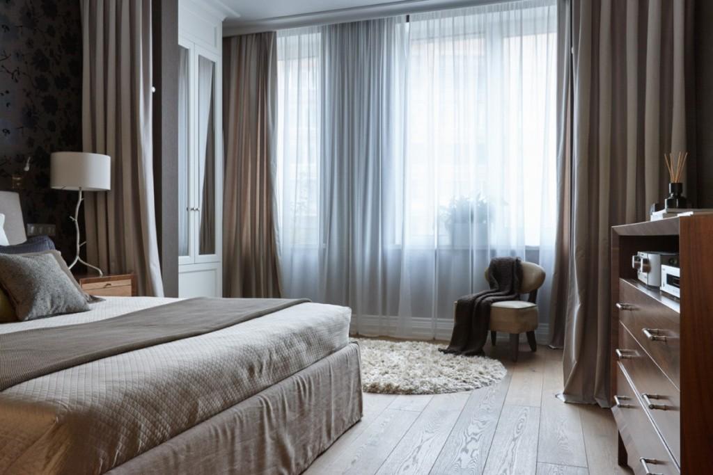 Дизайн спальни в темной цветовой гамме