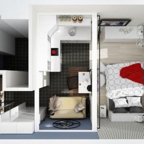 Планировка квартиры студийного типа