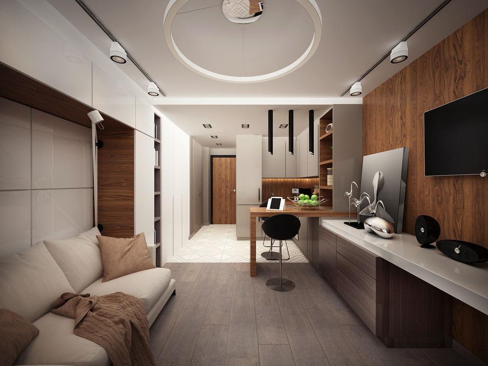 Декорирование квартиры студии вытянутой формы