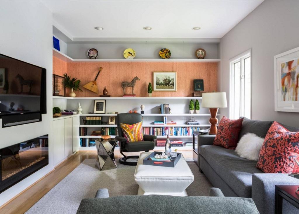 Расстановка мебели в прямоугольной комнате