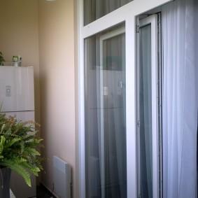 Сдвижная дверь из теплого пластикового профиля