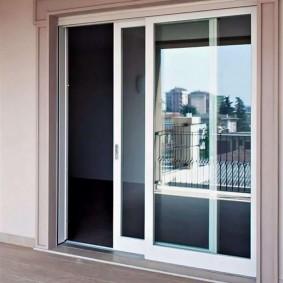 Раздвижные двери из теплого алюминиевого профиля