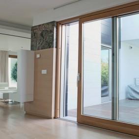 Сдвижная дверь на основе алюминиевого профиля