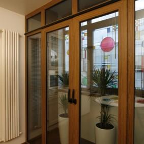 Французские двери на утепленный балкон