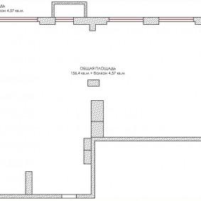 Схема квартиры свободной планировки в новостройке
