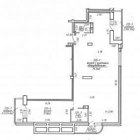 Планировка квартиры студии в монолитном доме