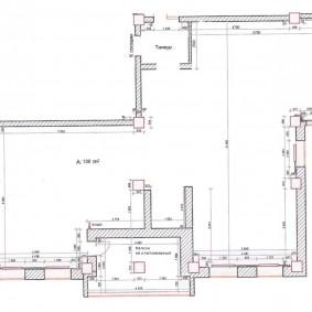 План квартиры свободной планировки площадью 130 кв метров