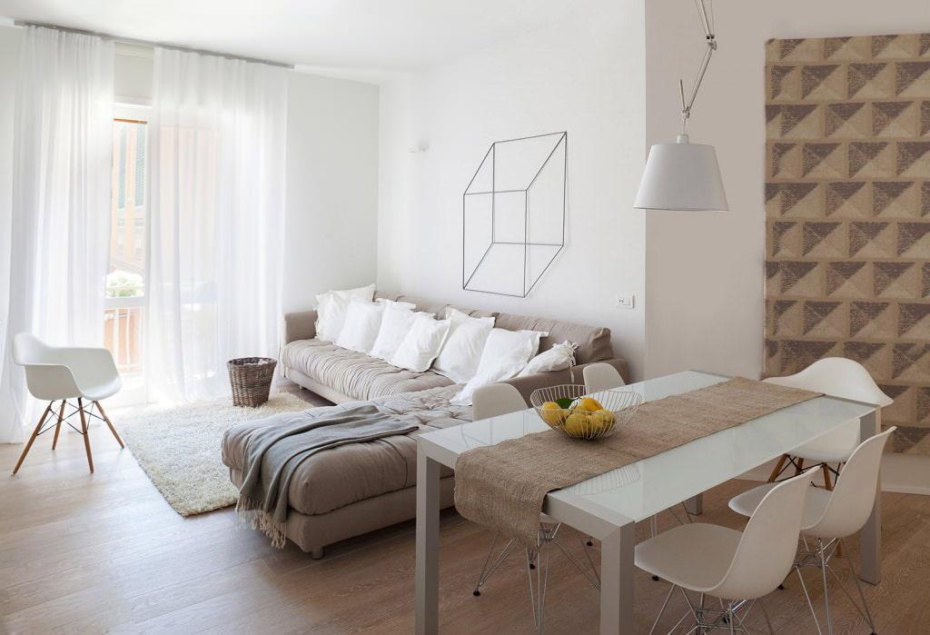 Угловая модель дивана в гостиной современного стиля