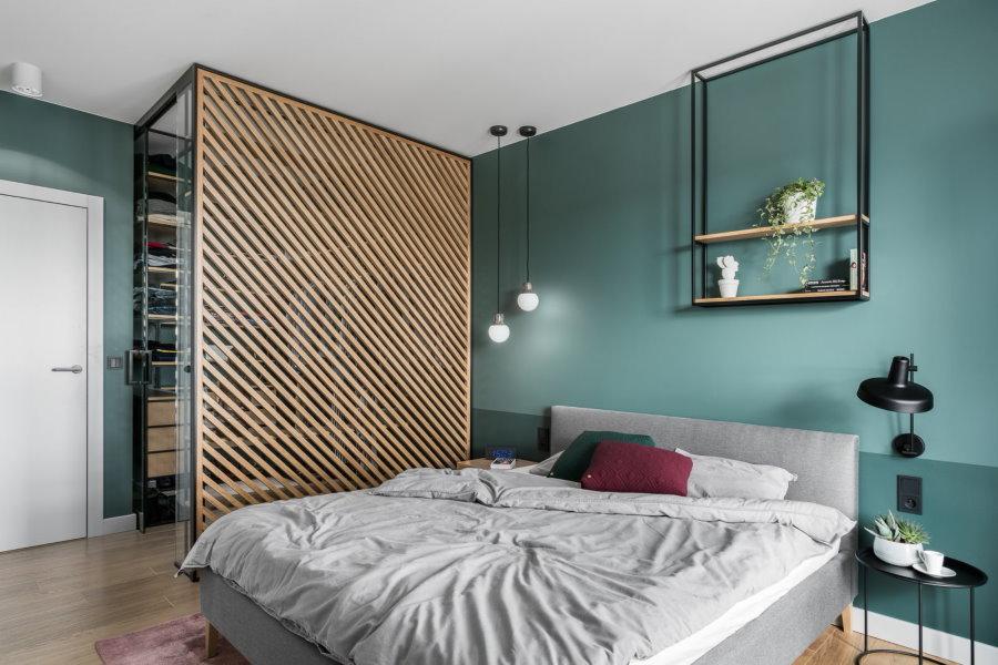 Дизайн спальной комнаты с гардеробом