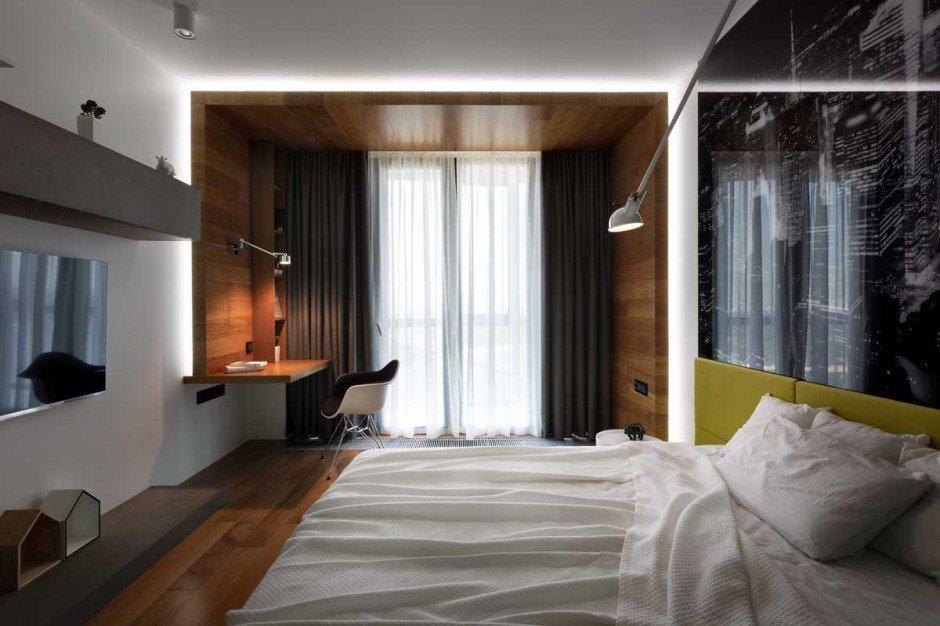 Меблировка спальной комнаты в квартире европейской планировки