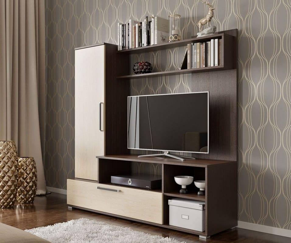 Стенка-горка для размещения телевизора в зале