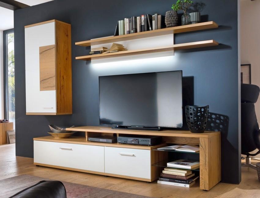 Стенка с тумбой под телевизор в современном стиле