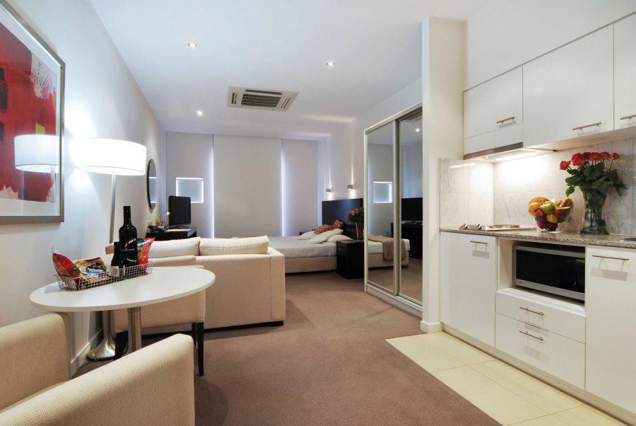 Дизайн трехкомнатной квартиры студийного типа