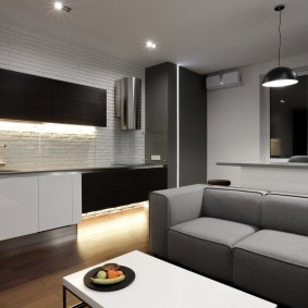 Черно-белая мебель в стиле минимализма