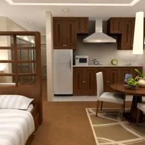 Интерьер маленькой квартиры свободной планировки