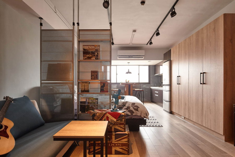 Интерьер квартиры студийной планировки площадью 25 кв м