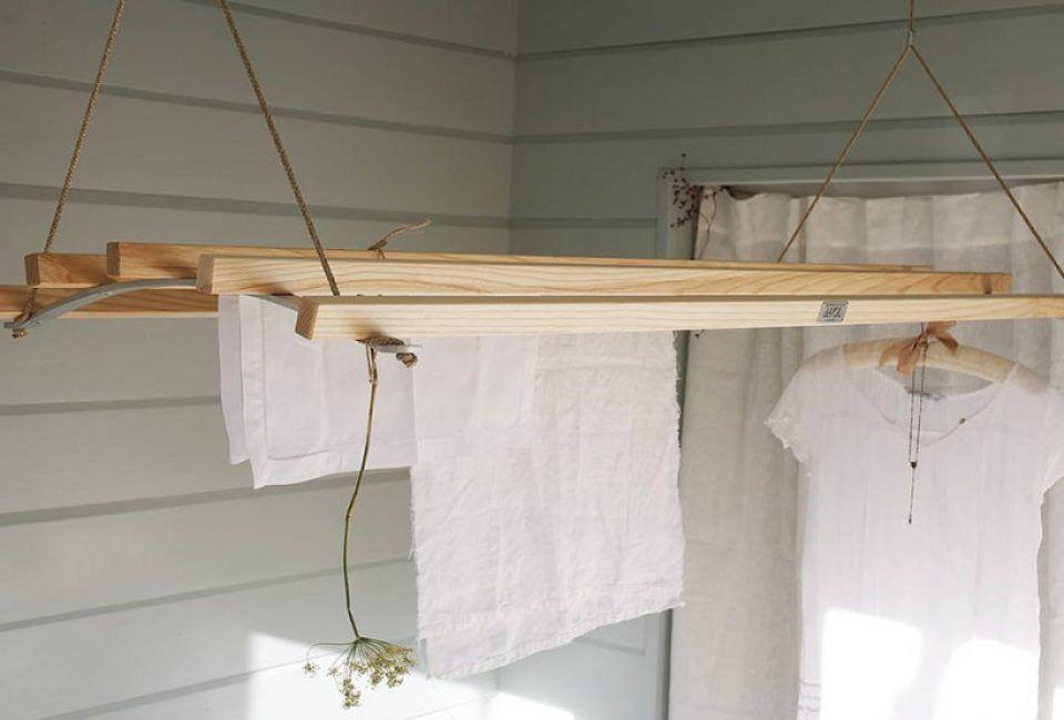 Балконная сушилка из дерева своими руками