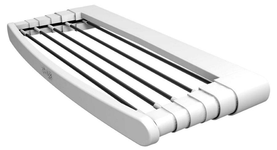 Балконная сушилка из белого пластика