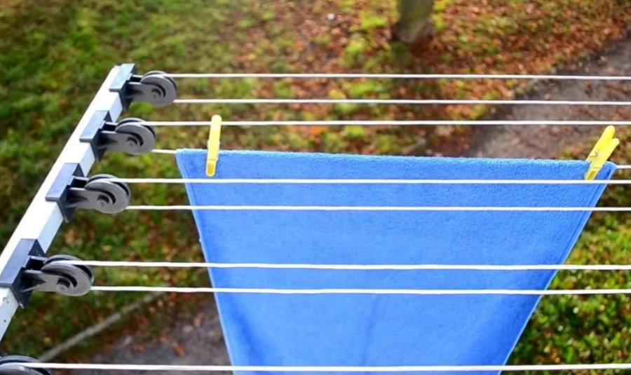 Наружная сушилка с роликами для открытого балкона